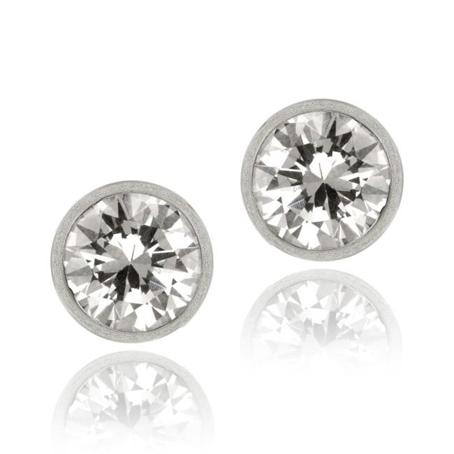 Icz Stonez Sterling Silver 9-mm Cubic Zirconia Stud Earrings