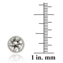 Icz Stonez Sterling Silver 9-mm Cubic Zirconia Stud Earrings - Thumbnail 2