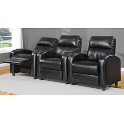 Tracy Black Bonded Leather Recliner - Thumbnail 2