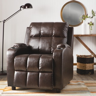Hoffman Chestnut Bonded Leather Recliner