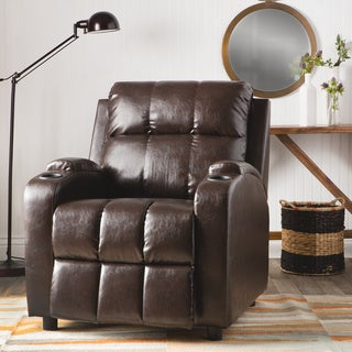 Copper Grove Hoffman Chestnut Bonded Leather Recliner