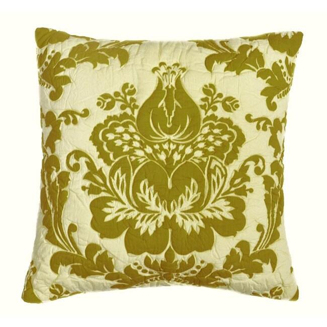 Damask Green Pillow