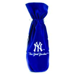 New York Yankees 14-inch Velvet Wine Bottle Bag - Thumbnail 2