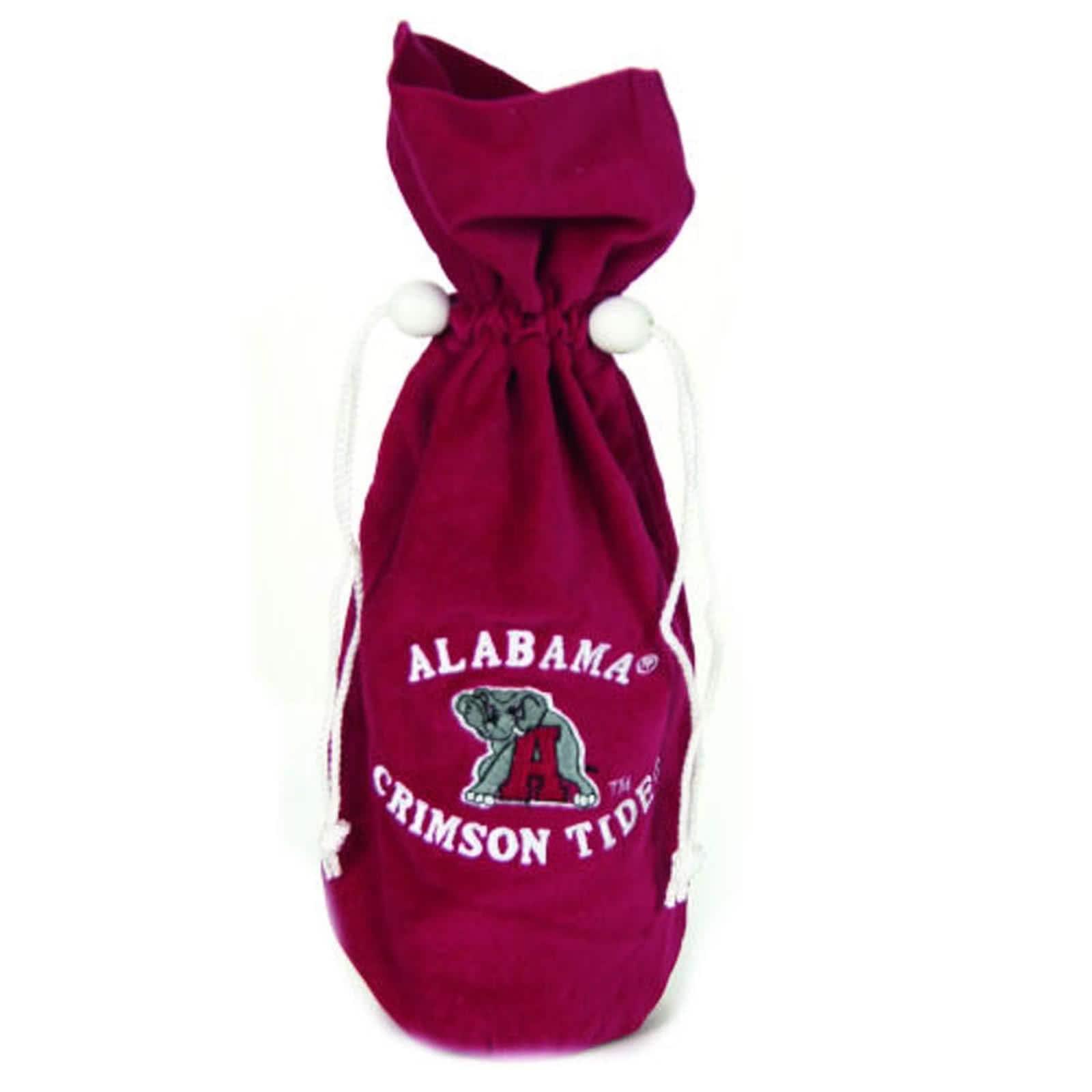 NCAA Alabama Crimson Tide 14-inch Velvet Wine Bottle Bag