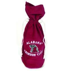 NCAA Alabama Crimson Tide 14-inch Velvet Wine Bottle Bag - Thumbnail 2