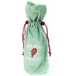 NCAA Ohio State Buckeyes 14-inch Velvet Wine Bottle Bag - Thumbnail 1