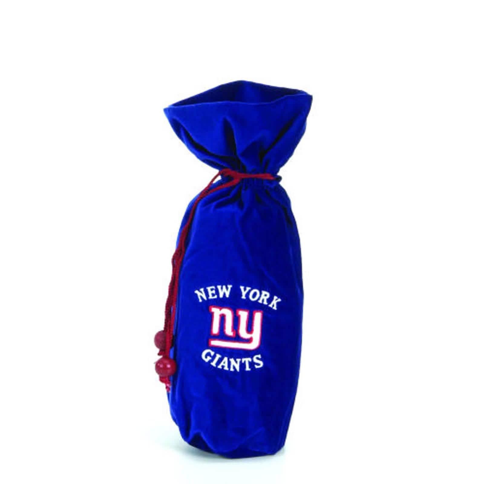 NFL New York Giants 14-inch Velvet Wine Bottle Bag