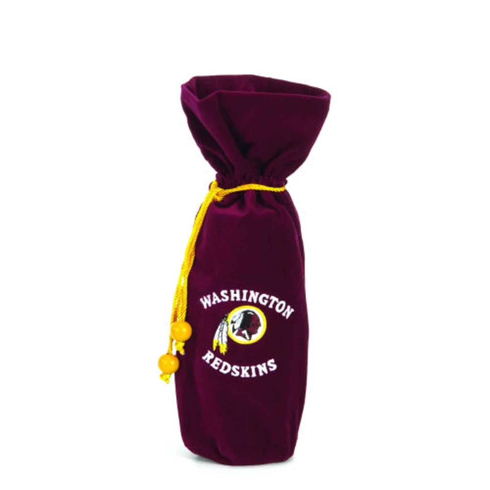 Washington Redskins 14-inch Velvet Wine Bottle Bag