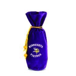 Minnesota Vikings 14-inch Velvet Wine Bottle Bag - Thumbnail 1