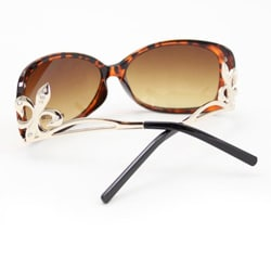 SWG Women's FDL5011 Brown and Amber Cateye Sunglasses