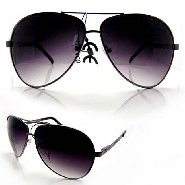 SWG Unisex 6203 Black and Purple Aviator Sunglasses - Thumbnail 0