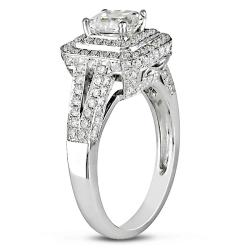 Miadora 18k White Gold 2ct TDW Certified Diamond  Ring (J-K, SI1)