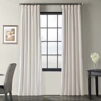 Exclusive Fabrics Signature Ivory Velvet Blackout Curtain Panel