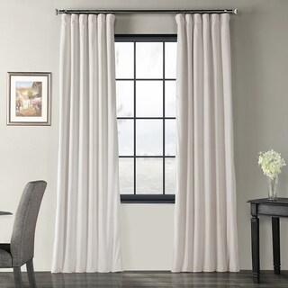 Exclusive Fabrics Signature Ivory Velvet Blackout Curtain Panel