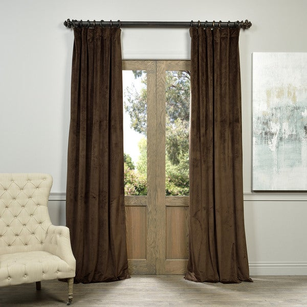 Exclusive Fabrics Signature Java Velvet Blackout Curtain Panel