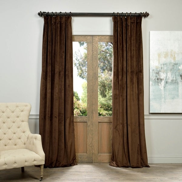 Exclusive Fabrics Signature Java Velvet Blackout Curtain Panel