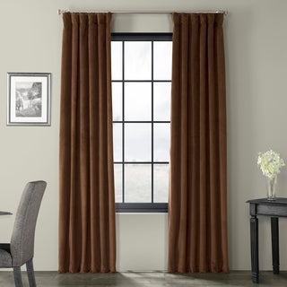 Perfect Exclusive Fabrics Signature Java Velvet Blackout Curtain Panel