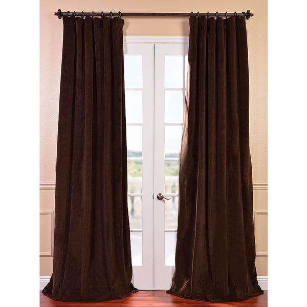 Exclusive Fabrics Signature Java Velvet 120-inch Blackout Curtain Panel
