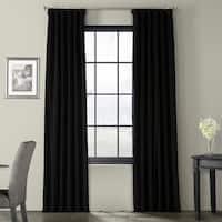 Exclusive Fabrics Signature Warm Black Velvet Blackout Curtain Panel