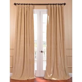 Exclusive Fabrics Signature Wheat Velvet 108-inch Blackout Curtain Panel