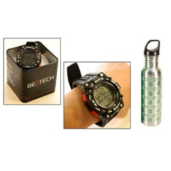 Beatech Heart Rate Monitor Watch/ 24-oz Water Bottle Combo