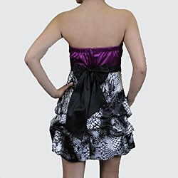 Wishes Juniors Colorblock Strapless Bubble Hem Dress
