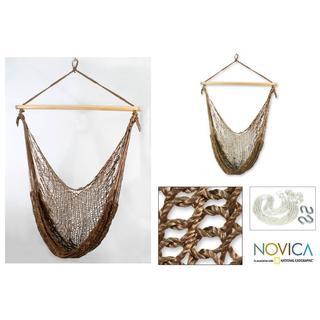 Handmade Nylon Autumnal Bronze Hammock Swing (Mexico)