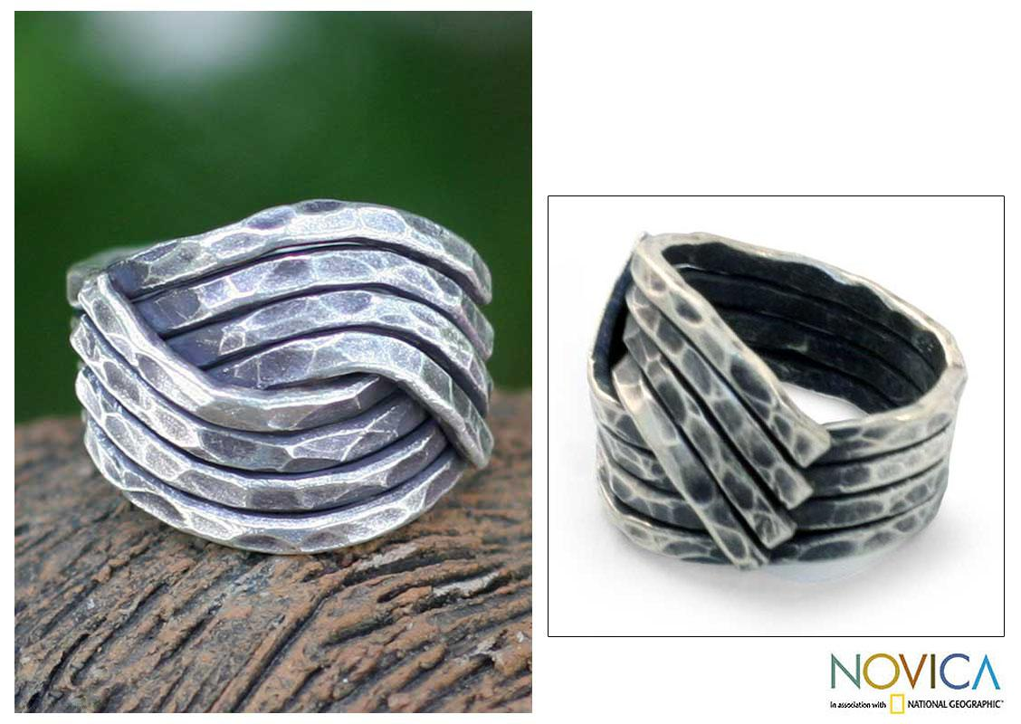 Sterling Silver 'Be Original' Band Ring (Thailand)