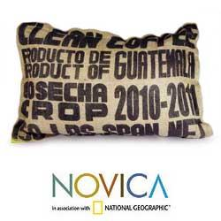 Jute and Cotton 'Coffee Beans' Cushion Cover (Guatemala)