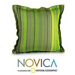 Jute and Cotton 'Pajapita' Cushion Cover (Guatemala) - Thumbnail 1