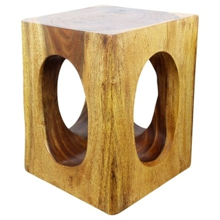 Handmade Monkey Pod Wood 20-inch Window End Table (Thailand)