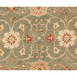 Hand-tufted Jaren Green Wool Rug (6' Round) - Thumbnail 1
