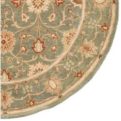 Hand-tufted Jaren Green Wool Rug (6' Round) - Thumbnail 2