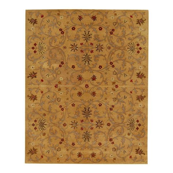 Hand-tufted Jarrah Gold Wool Rug (8' x 11')