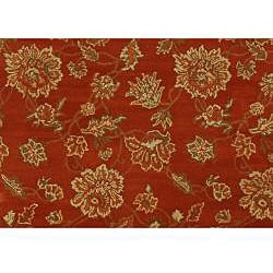Hand-tufted Bryson Red Wool Rug (2' x 3') - Thumbnail 1