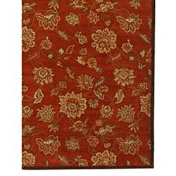 Hand-tufted Bryson Red Wool Rug (2' x 3') - Thumbnail 2