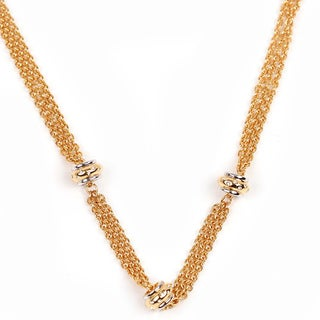 NEXTE Jewelry Goldtone Triple Strand Necklace