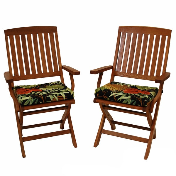 All-Weather Outdoor Folding Polyester Chair Pads (Pack of Two)