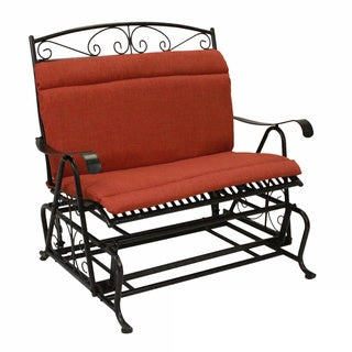 Blazing Needles Solid All-weather Outdoor Double Glider Chair Cushion - 42 x 40