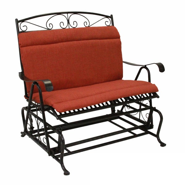 Blazing Needles Solid All weather Outdoor Double Glider