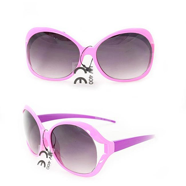 Kid's K3117 Pink/ Purple Plastic Fashion Sunglasses