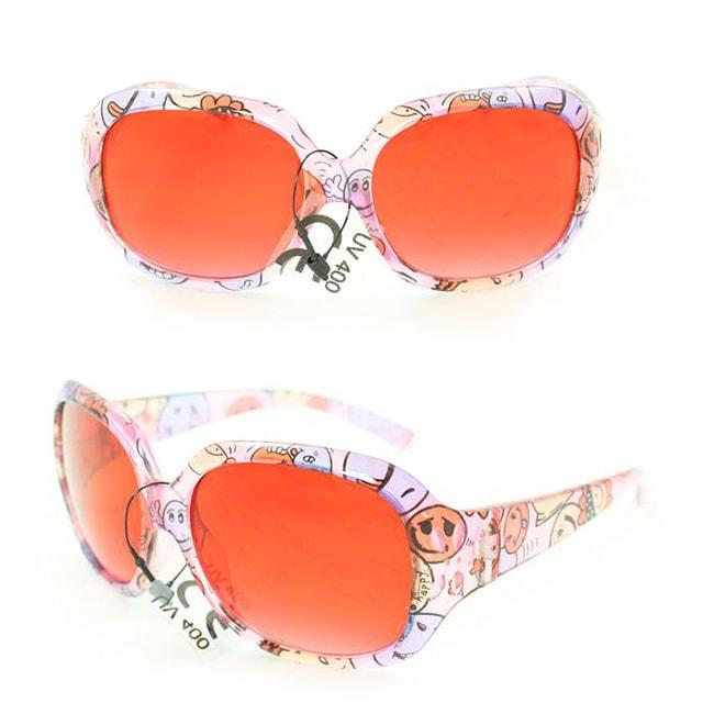 Kid's K3111 Pink Plastic Fashion Sunglasses