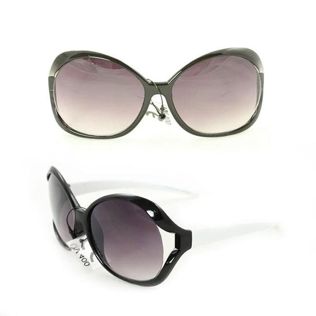 Kid's K3117 Black/ White Plastic Fashion Sunglasses