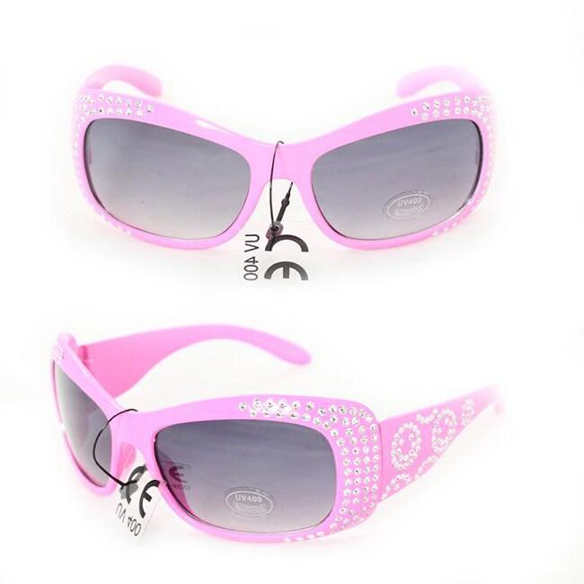 Kid's K5066 Pink Plastic Fashion Sunglasses