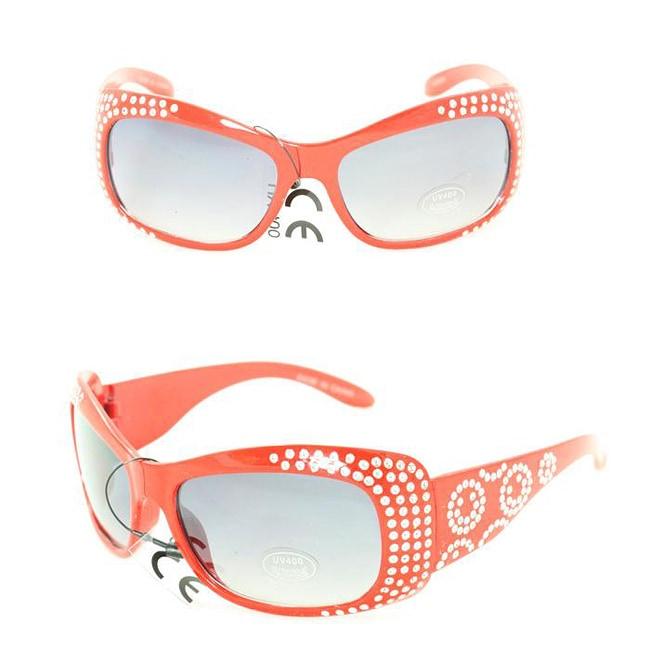 Kid's K5066 Red Plastic Fashion Sunglasses