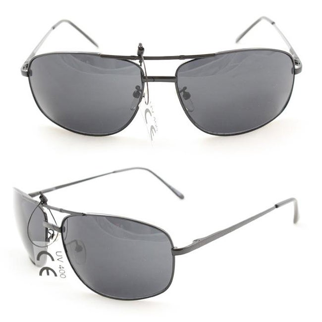Men's 7837 Black Wrap Sunglasses