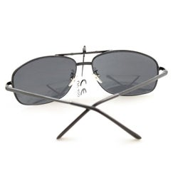 Men's 7837 Black Wrap Sunglasses - Thumbnail 1