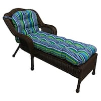 """Blazing Needles All-weather U-shaped Outdoor Chaise Lounge Cushion - 69""""l x 21""""w x 5""""h"""