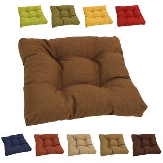 Blazing Needles Solid Tufted All-weather Outdoor Chair/ Rocker Cushion