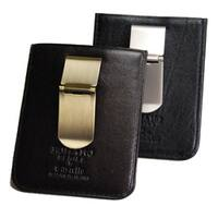 Castello 'Romano' Black Leather Money Clip